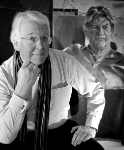 Martin Burrough in his studio