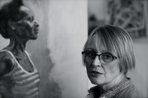 Hilary Puxley in her studio