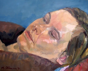 Marta, oil on canvas, 24 x 30cm, 2011