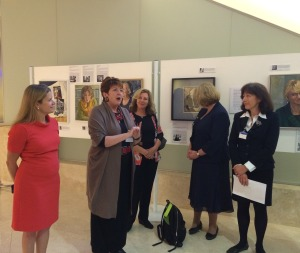 KPMG Portrayed! reception with Nicola, Susan, Sarah, guest and Stella