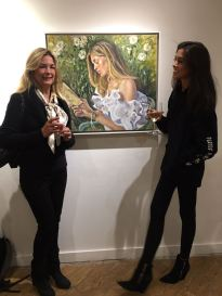 christine-klein-with-her-daughter-celine-and-portrait