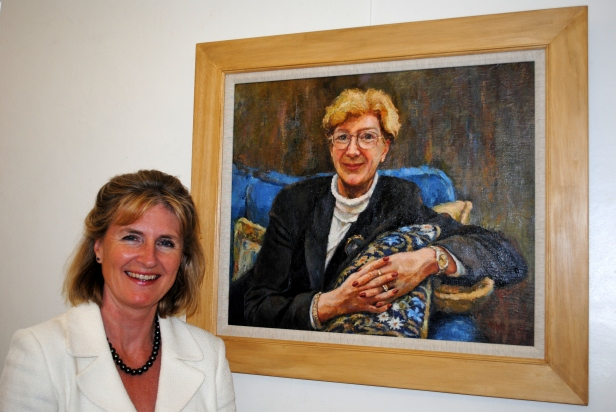 Katherine Firth's portrait of Dame Barbara Mills