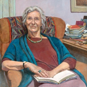 Dame Gillian Beer by artist Katherine Firth-Portrait