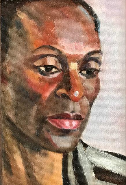 Margo, oil sketch