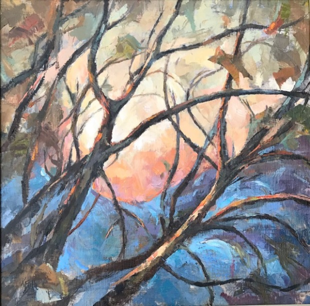 Katherine Firth Winter Glow Oil on board 62x62cm £300