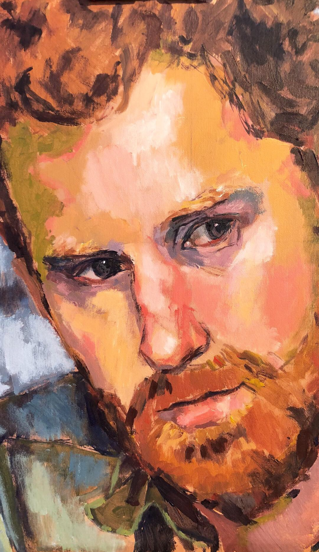 Martin Burrough Prince Harry acrylic on board 35x45cm £450.JPEG