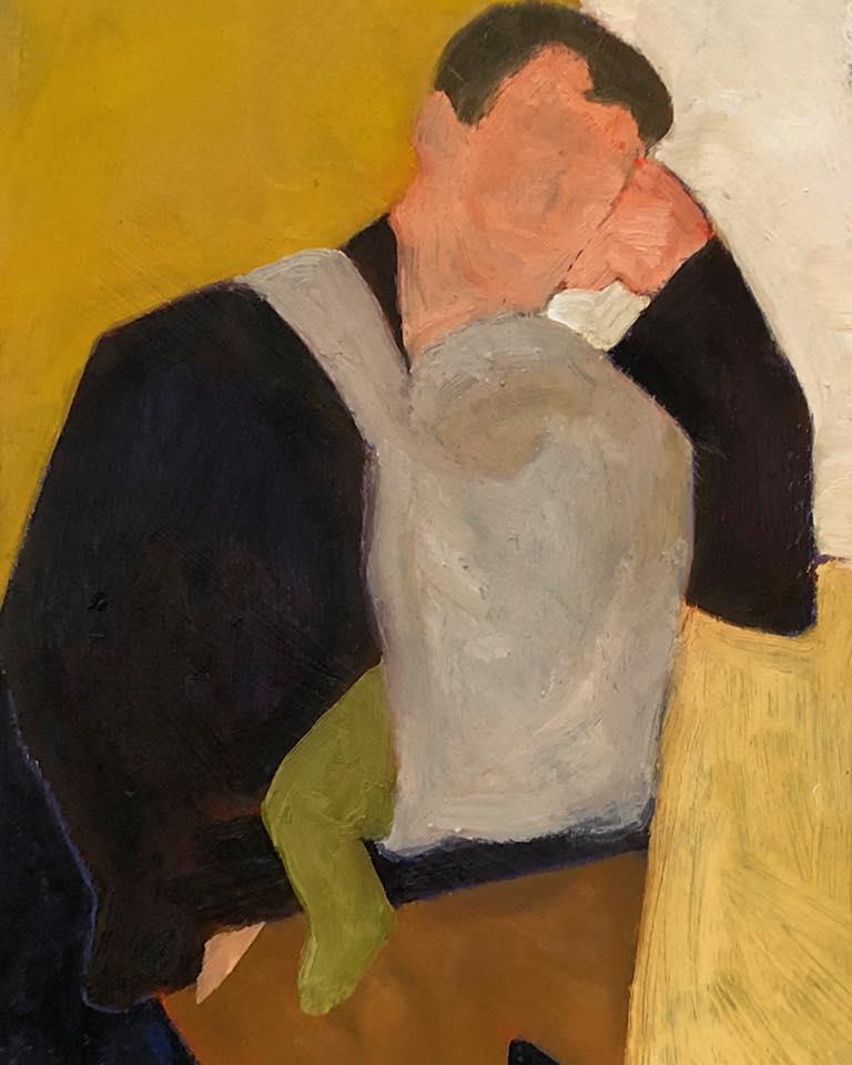 Maureen Nathan Tired oil on artboard 23x32cm £495