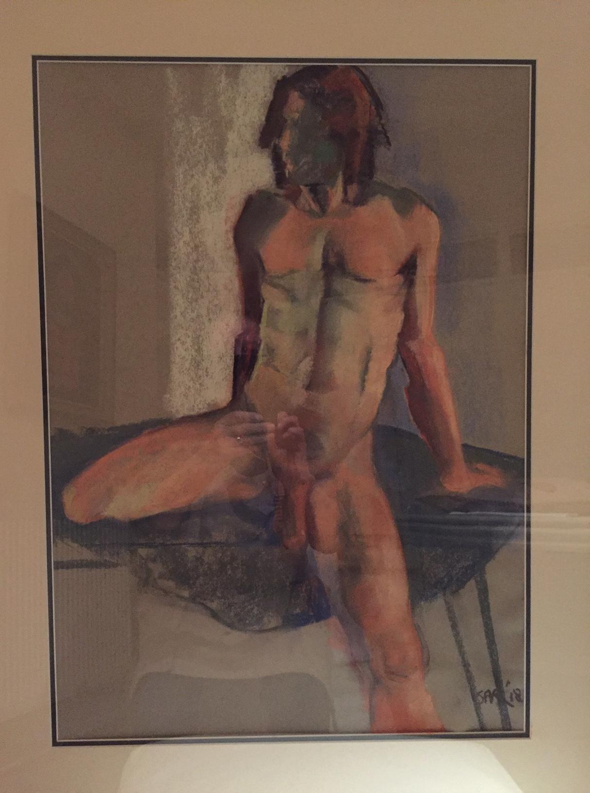 Sarah Richardson Nude Balanced Pastel on paper 60x75cm £475