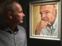 Mark Stevenson with his portrait