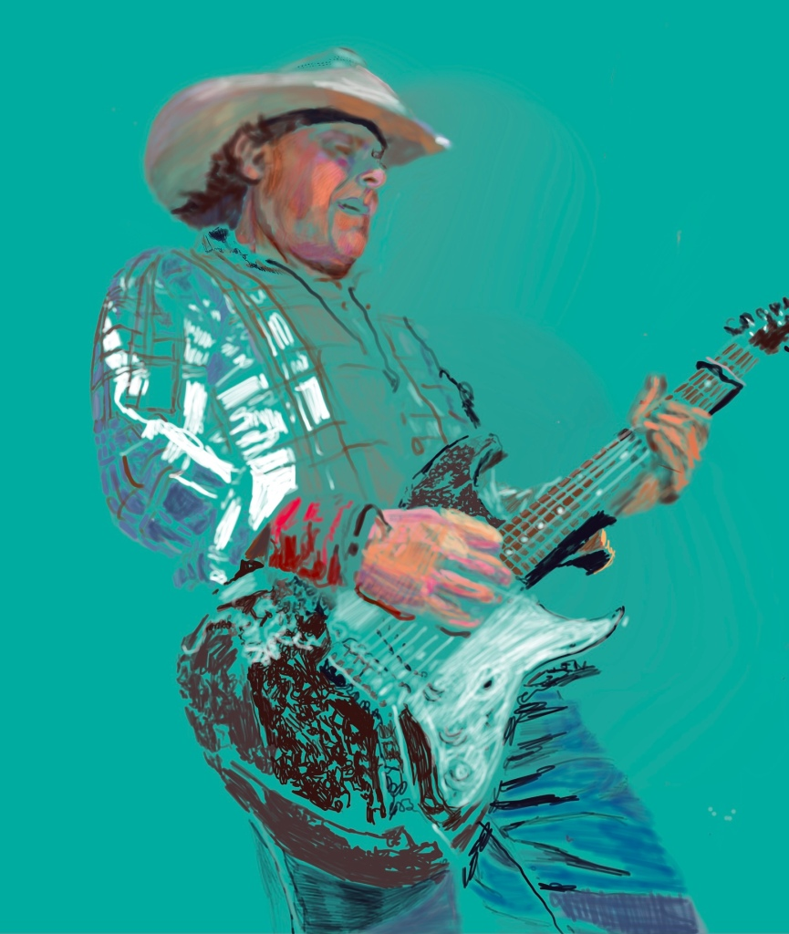 Los Pacaminos' Jamie Moses digital drawing by Stella Tooth